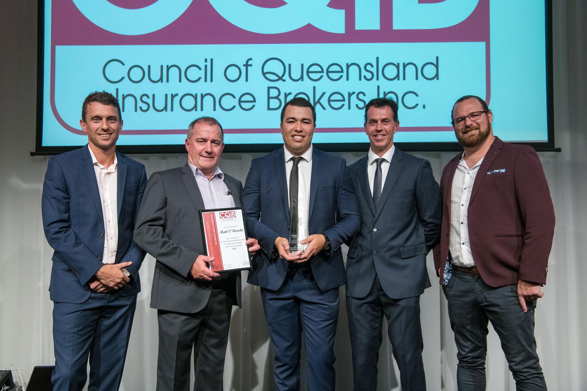 Matt O'Rourke accepts award with the LEA team